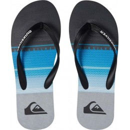 QUICKSILVER MOLOKAI HIGHLINE SLAP SANDALS AQBL100263-XKBS BLACK/BLUE/GREY