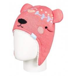 ROXY BEAR BEANIE SNOW ERLHA03041-MHG0 SHELL PINK