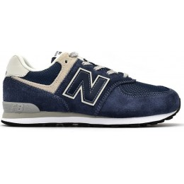 NEW BALANCE 574 GRADE SHOES GC574GV-GV BLUE/GREY