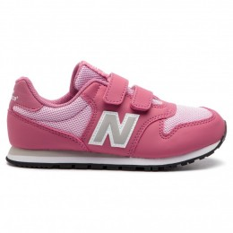 NEW BALANCE 500 YOUTH SHOES YV500PK-PK DARK PINK
