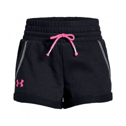 UA RIVAL TERRY TRACK SHORT PANTS 1327362-001 BLACK