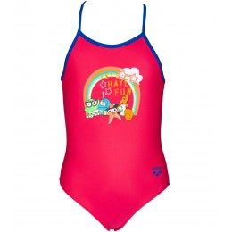 ARENA AWT KIDS GIRL ONE PIECE 002046-957 FREAK ROSE/NEON BLUE