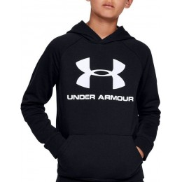 Under Armour RIVAL LOGO KIDS  HOODIE 1325328-001 BLACK