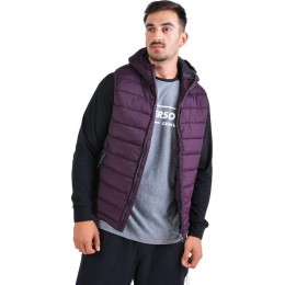 EMERSON MENS P.P.DOWN VEST JACKET WITH HOOD 192.EM10.120-01 BORDEAUX