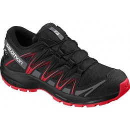 SALOMON KIDS SHOES PRO 3D CSWP J 407468-00 BLACK/RED