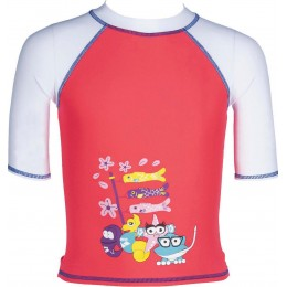 ARENA ΜΠΛΟΥΖΑ UV AWT KIDS GIRL SUN PROTECTION 003088-471 FLUO RED